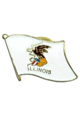 Popcorn Tree Lapel Pin - Illinois Flag