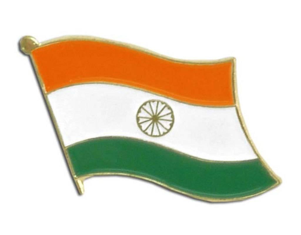 Popcorn Tree Lapel Pin - India Flag