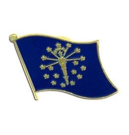 Popcorn Tree Lapel Pin - Indiana Flag