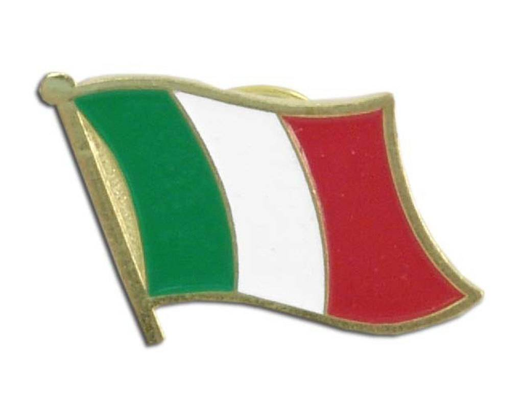 Popcorn Tree Lapel Pin - Italy Flag
