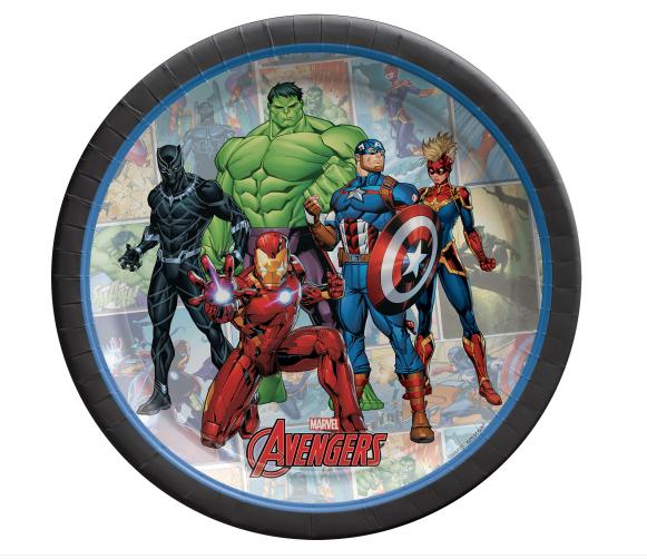 "Marvel Avengers - 7"" Round Plates"