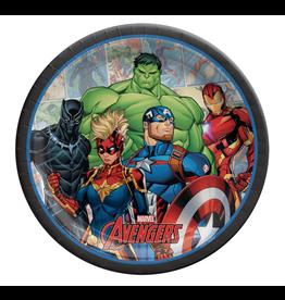 "Marvel Avengers - 9"" Round Plates"