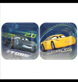 "Cars 3 - 7"" Plates"