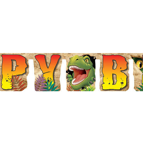 Creative Converting Dino Blast - Banner, Jointed