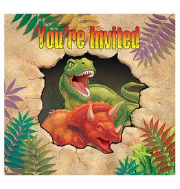 Creative Converting Dino Blast - Invitations
