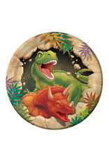 "Creative Converting Dino Blast - Plates, 7"" Lunch"