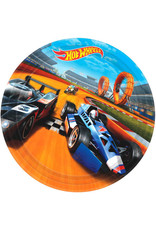 """Hot Wheels Speed City - Plates, 9"""" Lunch"""