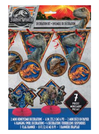 Unique Jurassic World 2 - Decoration Kit