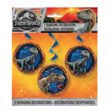 Unique Jurassic World 2 - Hanging Swirl Decorations