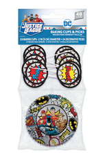 Justice League - Cupcake Cups and Picks