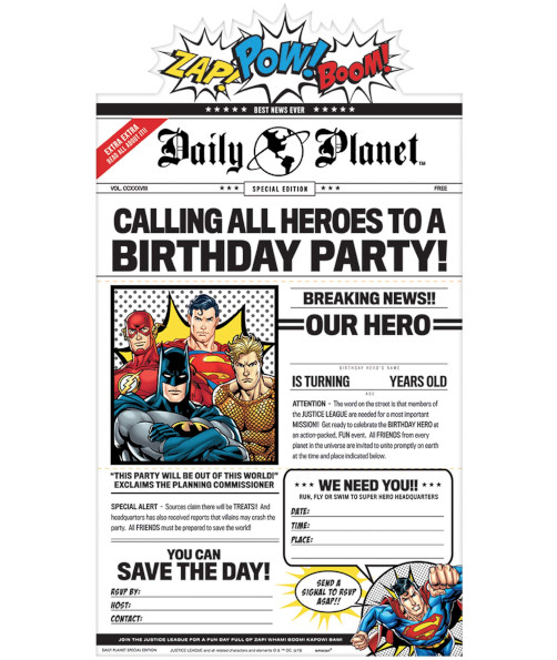 Justice League - Invitations