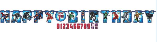 Justice League - Letter Banner