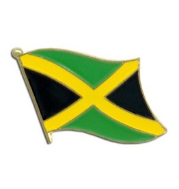Popcorn Tree Lapel Pin - Jamaica Flag