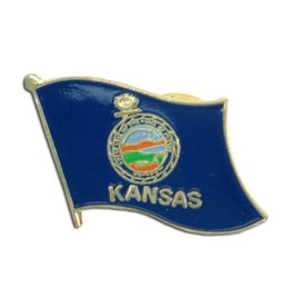 Popcorn Tree Lapel Pin - Kansas Flag