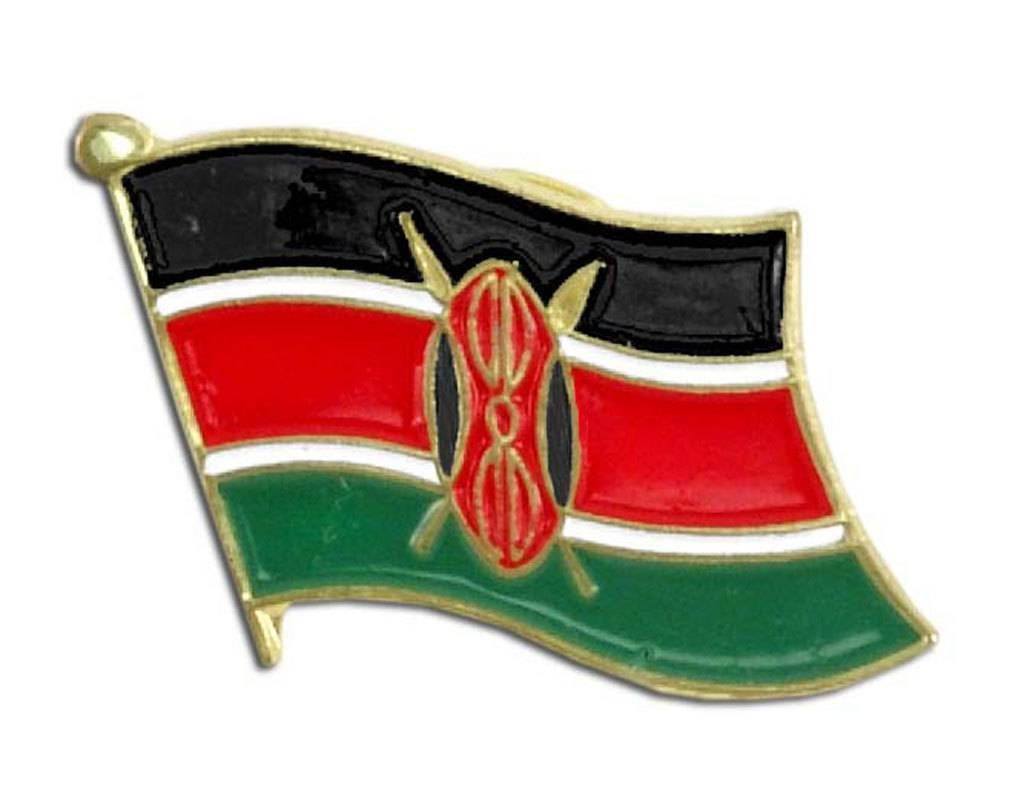 Popcorn Tree Lapel Pin - Kenya Flag