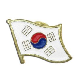 Popcorn Tree Lapel Pin - Korea Flag
