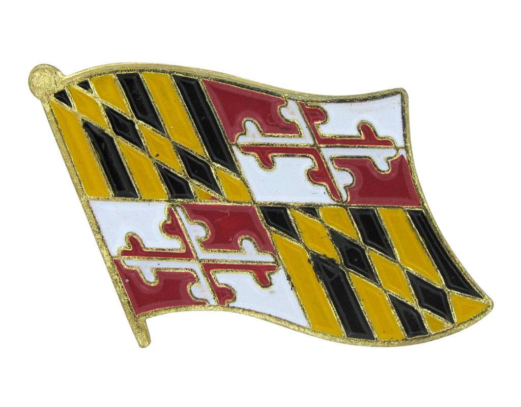 Popcorn Tree Lapel Pin - Maryland Flag