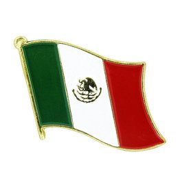 Popcorn Tree Lapel Pin - Mexico Flag