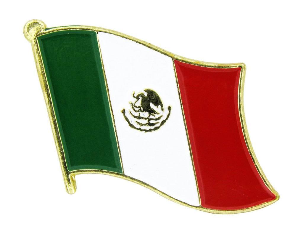 Popcorn Tree Lapel Pin - Mexico Flag