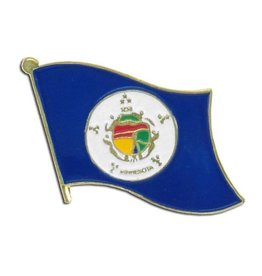 Popcorn Tree Lapel Pin - Minnesota Flag