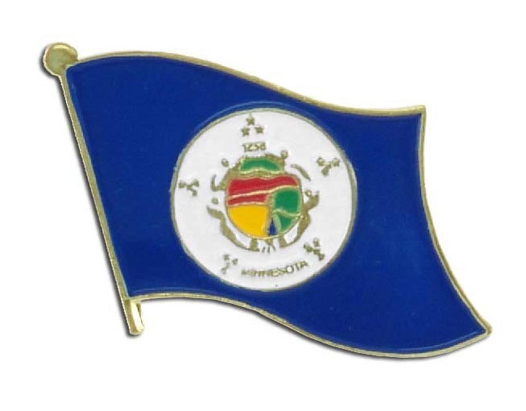 Popcorn Tree Lapel Pin - Minnesota Flag