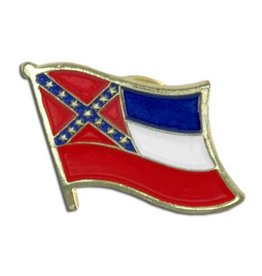 Popcorn Tree Lapel Pin - Mississippi Flag
