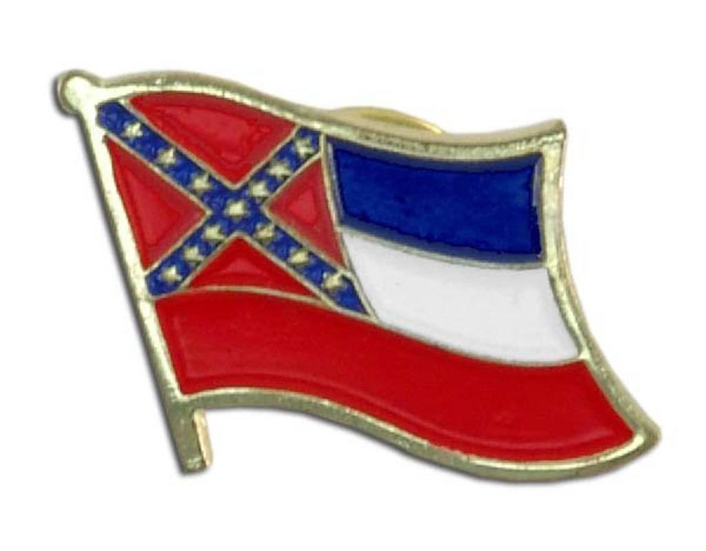 Popcorn Tree Lapel Pin - Mississippi Flag