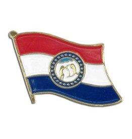 Popcorn Tree Lapel Pin - Missouri Flag