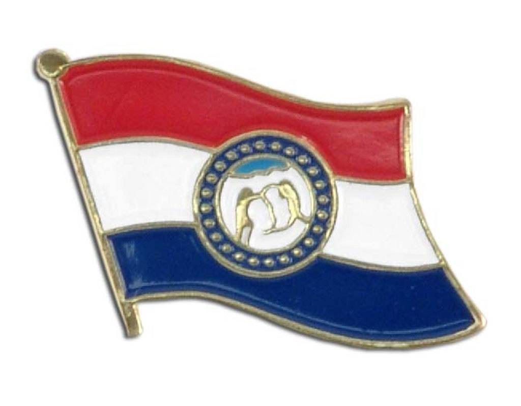 Popcorn Tree Lapel Pin - Missouri Flag