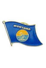 Popcorn Tree Lapel Pin - Montana Flag