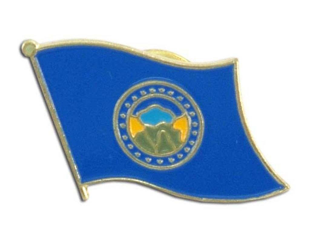 Popcorn Tree Lapel Pin - Nebraska Flag