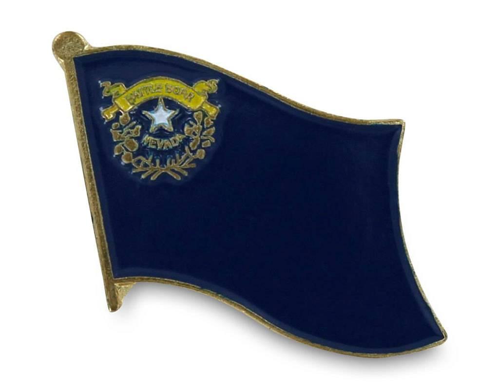 Popcorn Tree Lapel Pin - Nevada Flag
