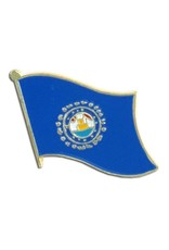 Popcorn Tree Lapel Pin - New Hampshire Flag