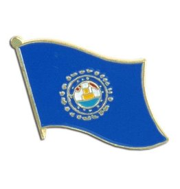 Popcorn Tree Lapel Pin - New Hampshire Flag