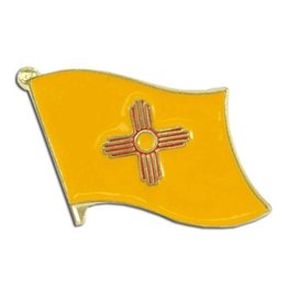 Popcorn Tree Lapel Pin - New Mexico State Flag