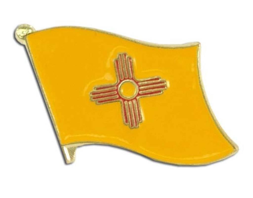 Popcorn Tree Lapel Pin - New Mexico State Flag