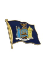 Popcorn Tree Lapel Pin - New York Flag