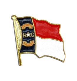 Popcorn Tree Lapel Pin - North Carolina Flag