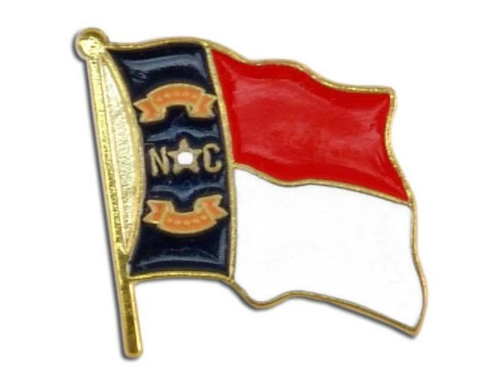 Popcorn Tree Lapel Pin - North Carolina Flag