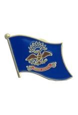 Popcorn Tree Lapel Pin - North Dakota Flag