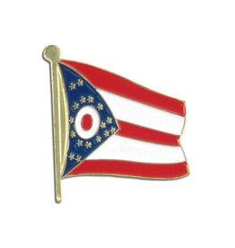 Popcorn Tree Lapel Pin - Ohio Flag