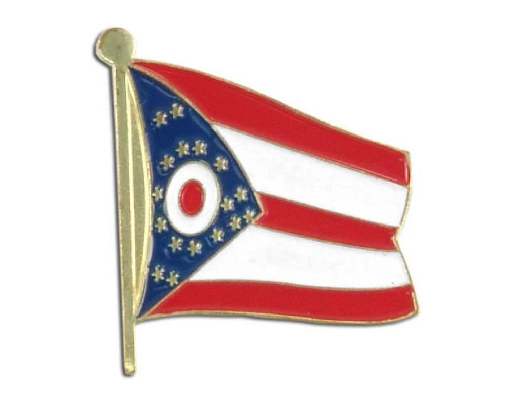 Popcorn Tree Lapel Pin - Ohio Flag
