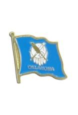 Popcorn Tree Lapel Pin - Oklahoma Flag