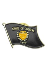 Popcorn Tree Lapel Pin - Oregon Flag
