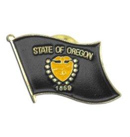 Popcorn Tree Lapel Pin - Oregon Flag