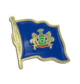 Popcorn Tree Lapel Pin - Pennsylvania Flag