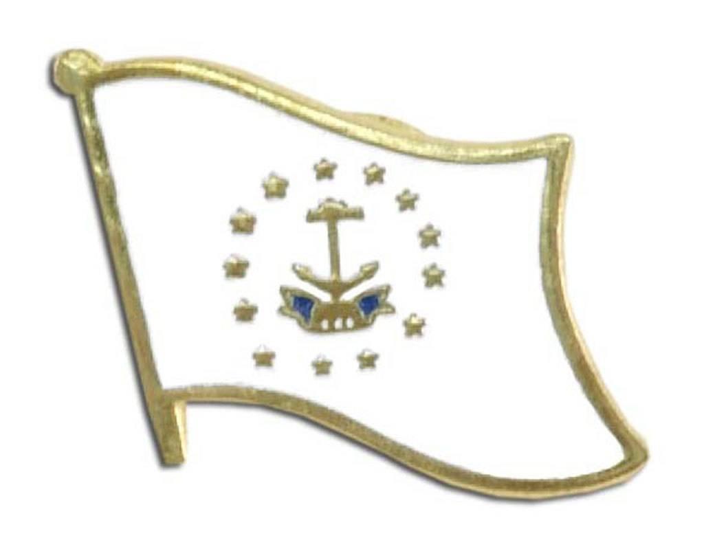 Popcorn Tree Lapel Pin - Rhode Island Flag