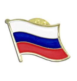 Popcorn Tree Lapel Pin - Russia Flag