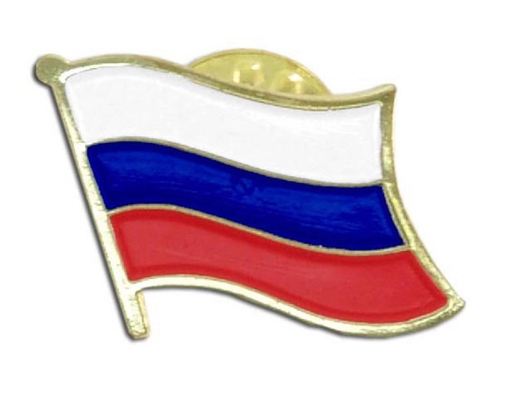 Popcorn Tree Lapel Pin - Russia Flag