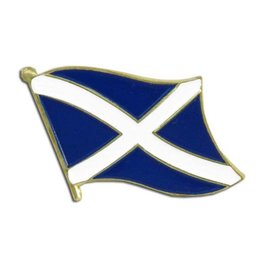 Popcorn Tree Lapel Pin - Scotland Flag